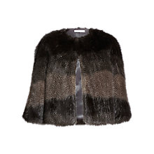 Buy Gina Bacconi Subtle Stripe Faux Fur Cape, Multi Online at johnlewis.com