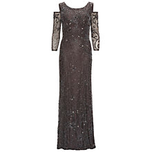 Buy Gina Bacconi Beaded Maxi Dress With Cut Out Shoulder, Pewter Online at johnlewis.com