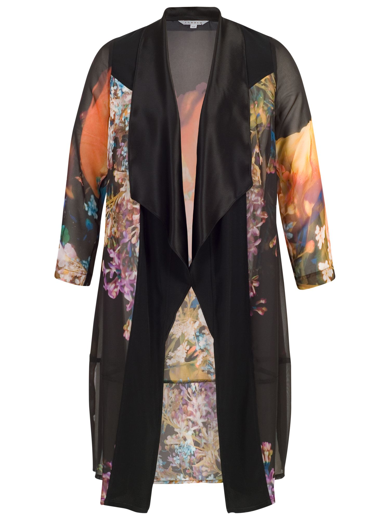 Chesca Chesca Tulip Coat, Black/Orange