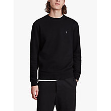 Buy AllSaints Raven Crew Neck Sweatshirt, Black Online at johnlewis.com