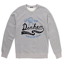 Buy Denham 'Route to the Blue City' Sweatshirt, Grey Marl Online at johnlewis.com