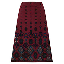 Buy East Cord Kilim Print Skirt, Raisin Online at johnlewis.com