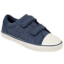 Buy John Lewis Children's Ellie Dash Double Rip-Tape Trainers, Navy Online at johnlewis.com