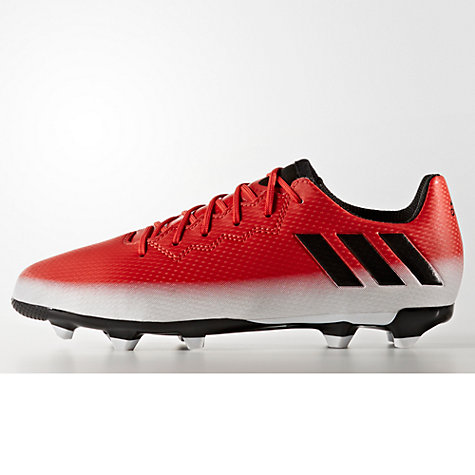 Buy adidas Children's Messi 16.3 FG Football Boots, Red/White Online at  johnlewis.