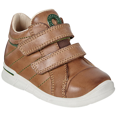 Ecco Children S First Double Rip Tape Leather Shoes Online At Johnlewis