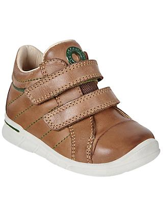 ECCO Children's First Double Riptape Leather Shoes