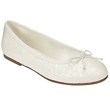 Buy John Lewis Children's Isabella Glitter Ballet Pumps, Ivory Online at johnlewis.com