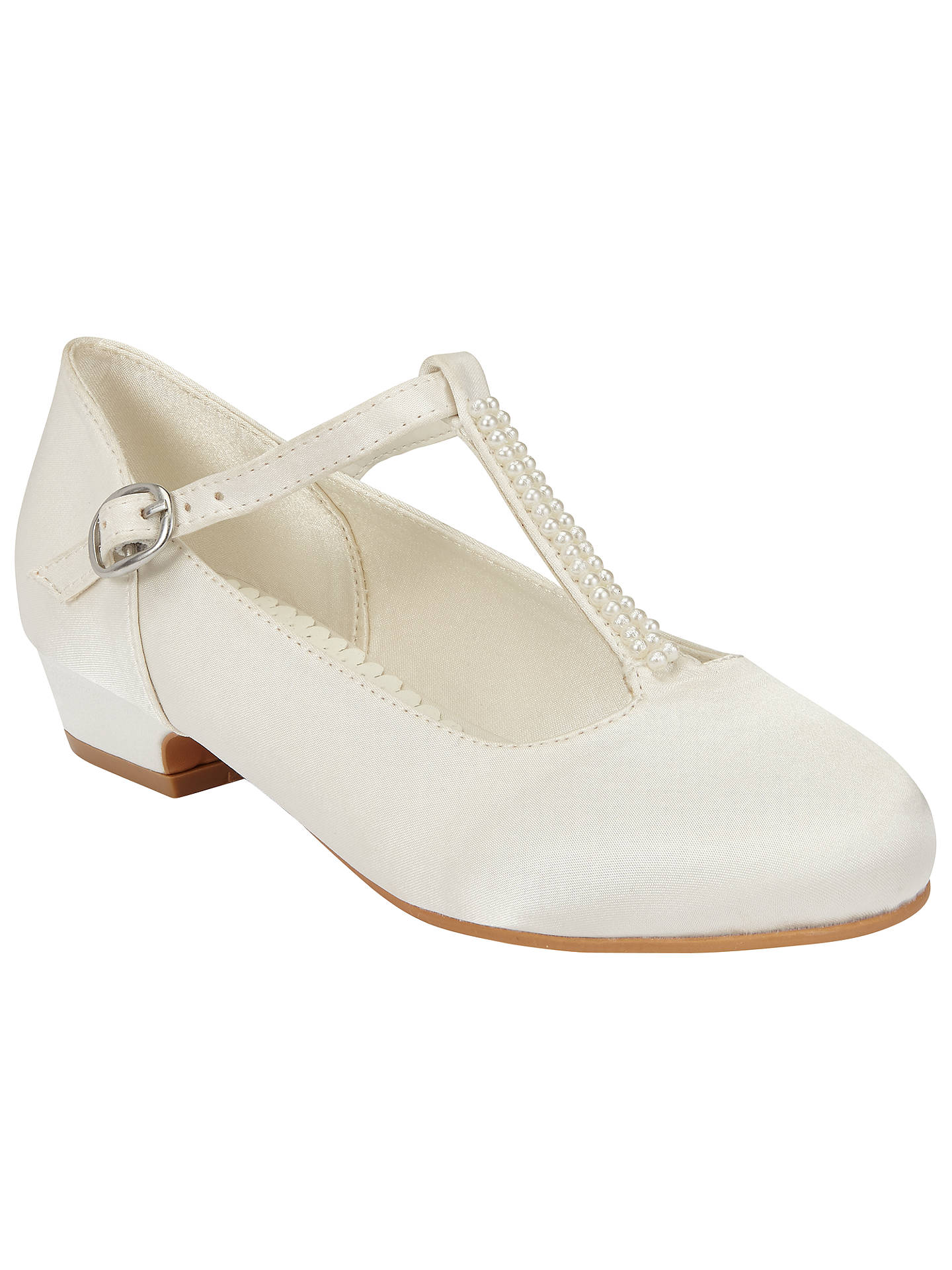 BuyJohn Lewis Children's Pearl T-Bar Shoes, Ivory, 10 Jnr Online at johnlewis ...