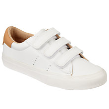 Buy John Lewis Children's Anna Rip Tape Shoes, White Online at johnlewis.com