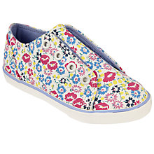 Buy John Lewis Children's Coco Eyelet Rip-Tape Floral Canvas Shoes, Multi Online at johnlewis.com