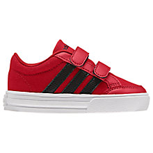 Buy Adidas Infant VS Set CMF Rip-Tape Sports Shoes, Red Online at johnlewis.com