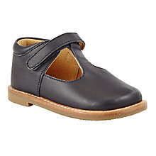 Buy John Lewis Heirloom Collection Children's Frances T-Bar Leather Shoes, Navy Online at johnlewis.com
