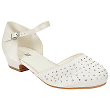 Buy John Lewis Children's Diamante Heeled Bridesmaid Shoes, Ivory Online at johnlewis.com