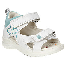 Buy ECCO Peekaboo Sandals, White Online at johnlewis.com