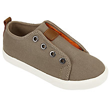 Buy John Lewis Children's Finlay Double Rip-Tape Trainers, Khaki Online at johnlewis.com