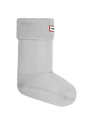 Hunter Children's Glitter Welly Socks, Grey