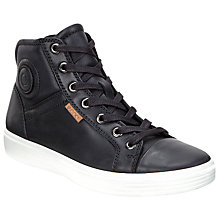 Buy ECCO Children's First Mid-Cut Lace-Up Leather Trainers Online at johnlewis.com