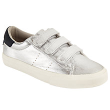 Buy John Lewis Children's Anna Rip Tape Shoes, Silver Online at johnlewis.com
