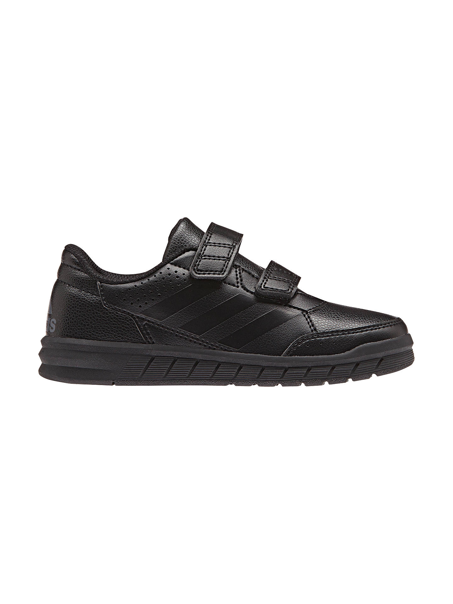 san francisco 1cffb 7760d Buy adidas Junior Alta Sport CF Riptape Trainers, Black, 11 Jnr Online at  johnlewis ...