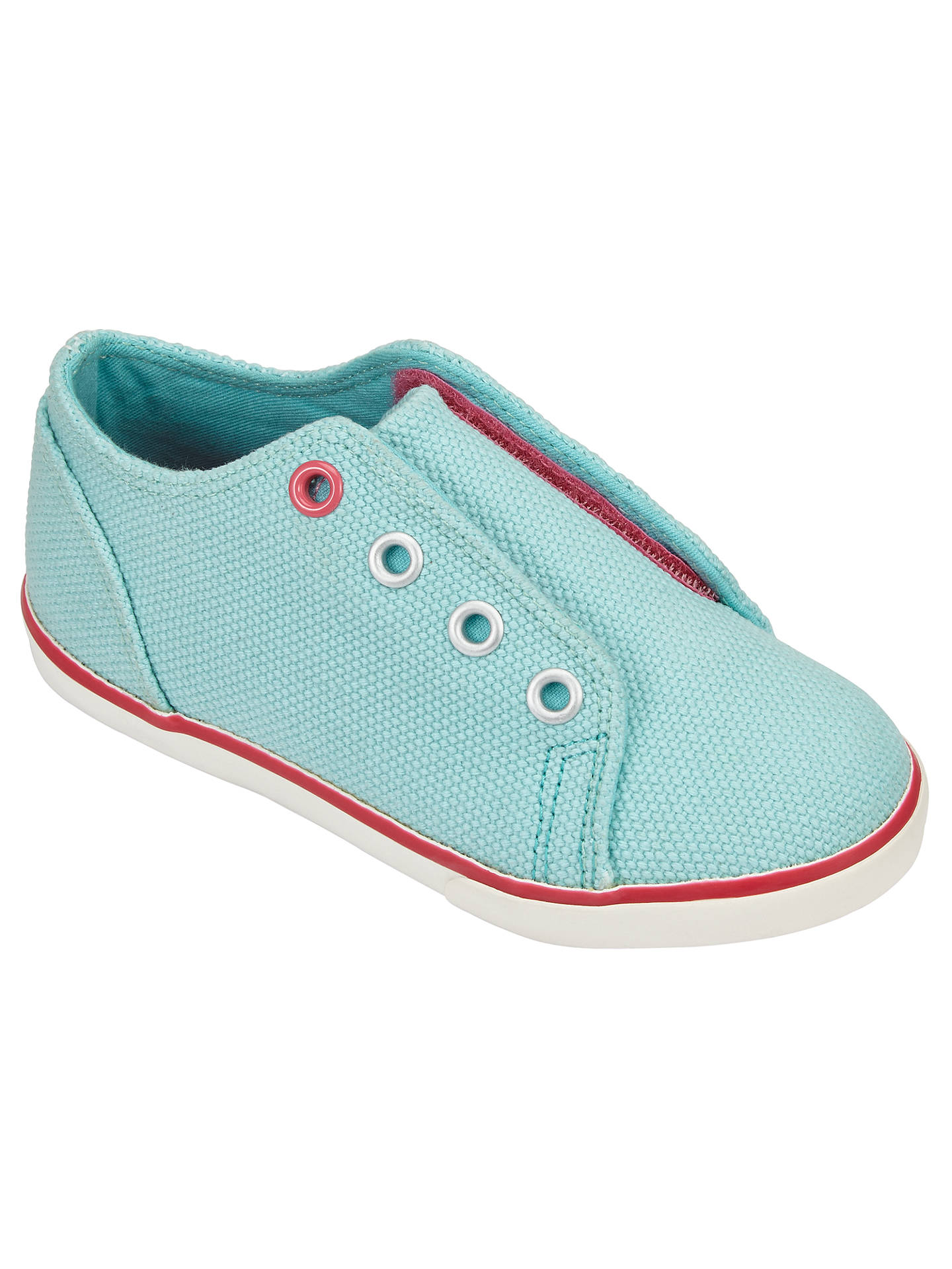 Buy John Lewis Children's Coco Double Rip-Tape Trainers, Turquoise, 6 Jnr Online at johnlewis.com