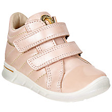 Buy ECCO First Shoes Low-Cut Leather Trainers, Pink Online at johnlewis.com