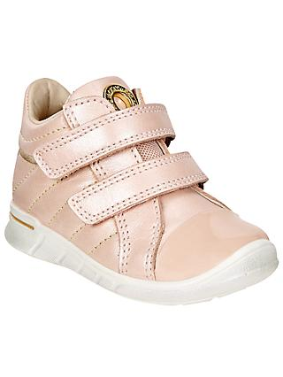 ECCO First Shoes Low-Cut Leather Trainers, Pink