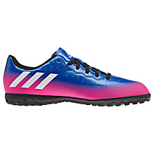 Buy adidas Children's Messi 16.4 TF Trainers, Blue/Multi Online at johnlewis.com