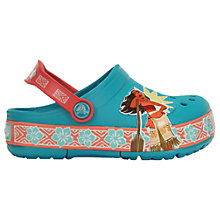 Buy Crocs Children's Croslite Moana Clogs, Blue/Multi Online at johnlewis.com
