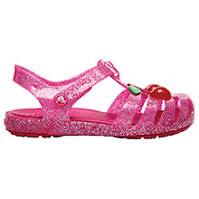 Buy Crocs Children's Isabella Novelty Sandals, Cherry Online at johnlewis.com