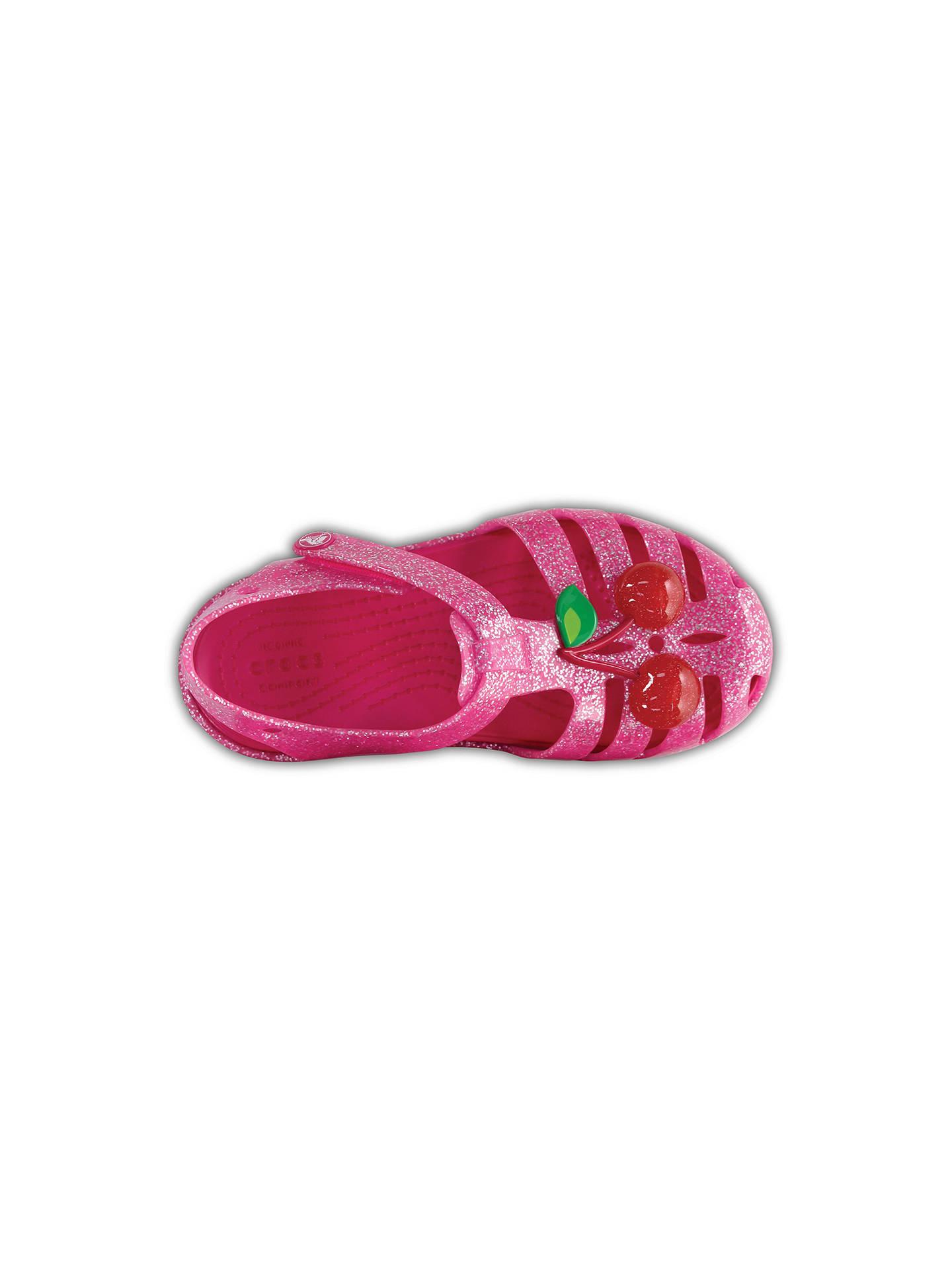 12a955f1 ... Buy Crocs Children's Isabella Novelty Sandals, Cherry, 4 Jnr Online at  johnlewis. ...