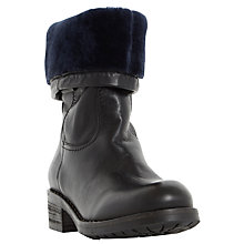 Buy Dune Roderik Leather Calf Boots, Black Online at johnlewis.com