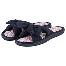 Buy Totes Open Toe Waffle Slippers, Navy Online at johnlewis.com