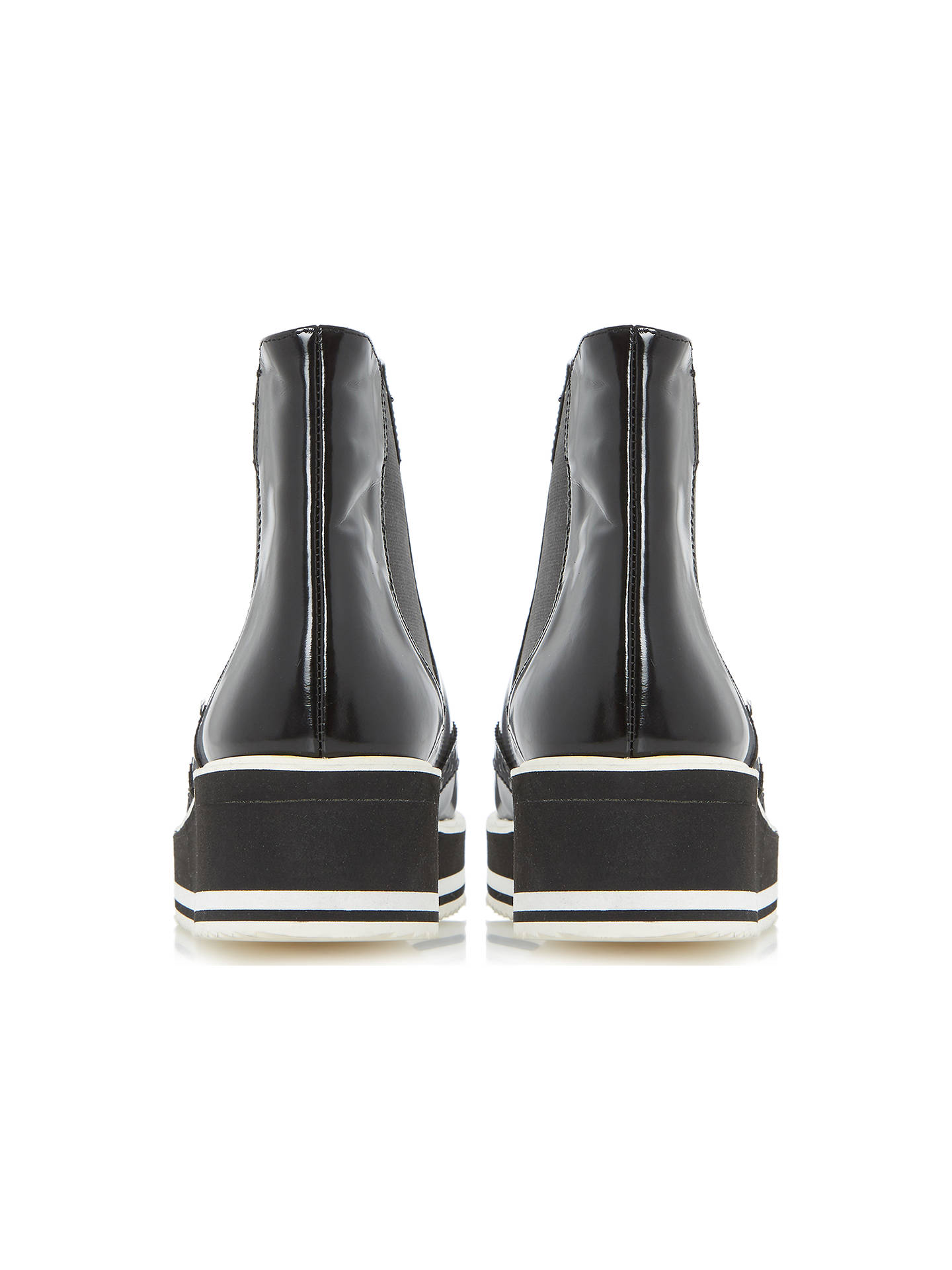 bb03be10dc8 Buy Dune Black Patrol Flatform Brogue Ankle Boots