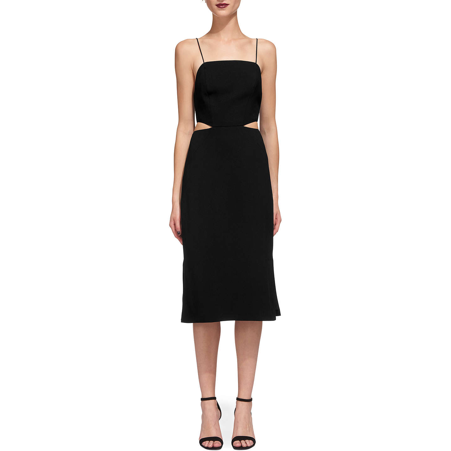 BuyWhistles Rossi Strappy Dress, Black, 12 Online at johnlewis.com