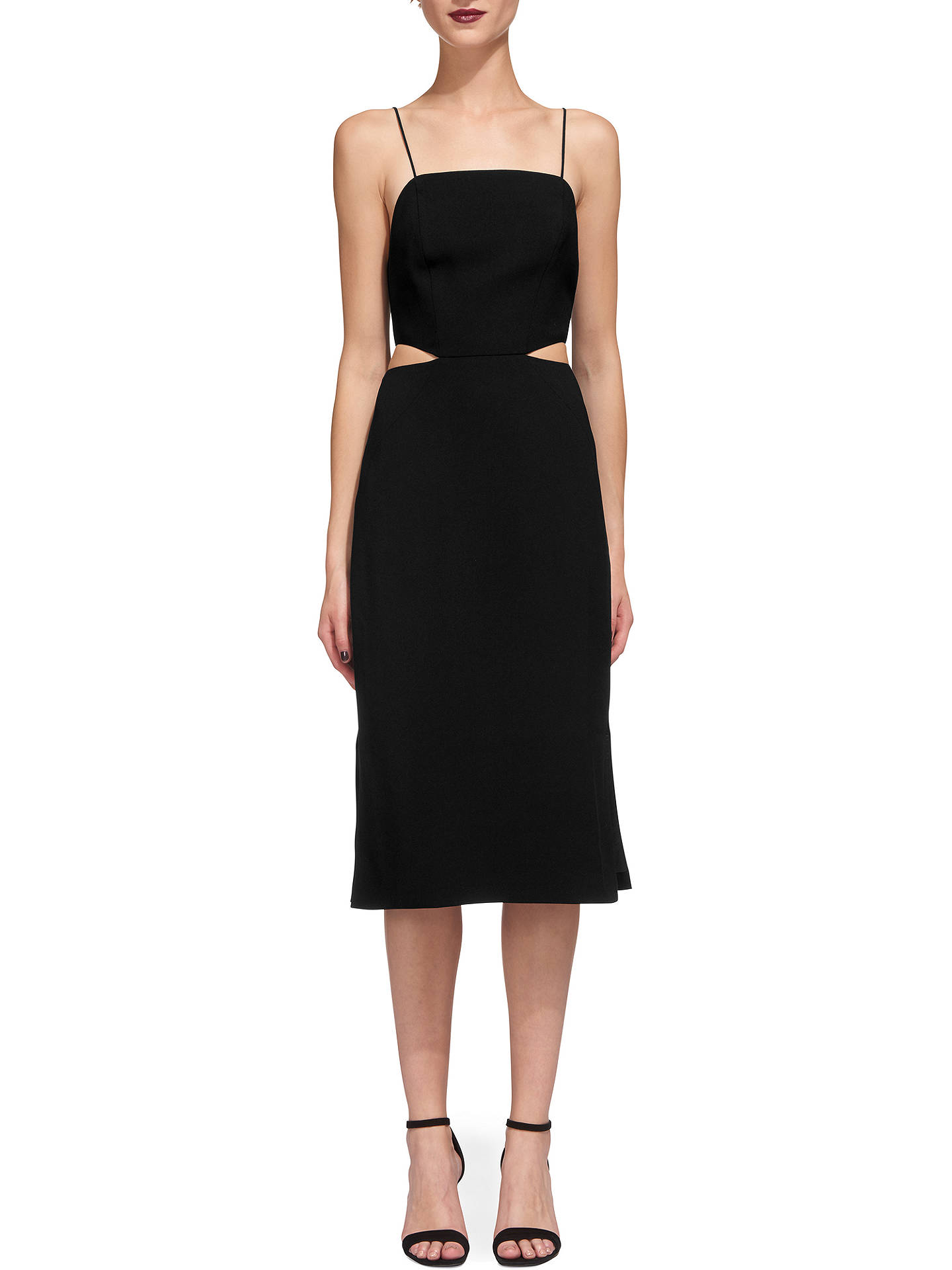 BuyWhistles Rossi Strappy Dress, Black, 14 Online at johnlewis.com