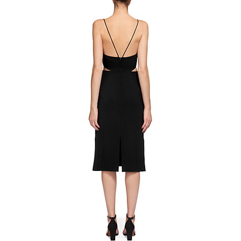 Buy Whistles Rossi Strappy Dress, Black Online at johnlewis.com