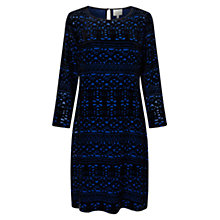 Buy East Thea Devore Dress, Cobalt Online at johnlewis.com