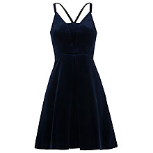 Buy Whistles Suzie Velvet Dress, Navy Online at johnlewis.com