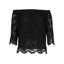 Buy Whistles Lace Bardot Top Online at johnlewis.com