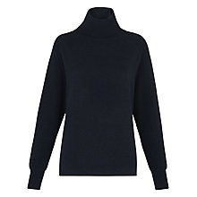 Buy Whistles Kennedy Cashmere Roll Neck Jumper, Navy Online at johnlewis.com