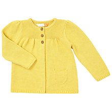 Buy John Lewis Baby Knitted Cardigan, Yellow Online at johnlewis.com