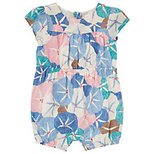 Buy John Lewis Baby Floral Playsuit, Multi Online at johnlewis.com