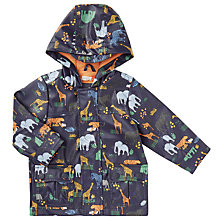 Buy John Lewis Baby Jungle Print Rain Jacket, Grey/Multi Online at johnlewis.com