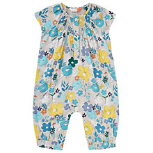 Buy John Lewis Baby Floral Romper Playsuit, Multi Online at johnlewis.com