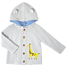 Buy John Lewis Baby Giraffe Cardigan, Grey Online at johnlewis.com