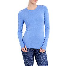Buy Lolë Agnessa Long Sleeve Yoga T-Shirt, Blue Online at johnlewis.com