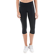 Buy Lolë Running Capris, Black Online at johnlewis.com