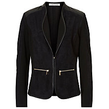 Buy Betty Barclay Faux Suede Jacket, Black Online at johnlewis.com