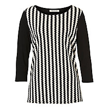 Buy Betty Barclay Waffle Striped Top, Black/White Online at johnlewis.com