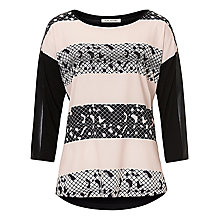 Buy Betty Barclay Embellished Printed Top, Black/Beige Online at johnlewis.com
